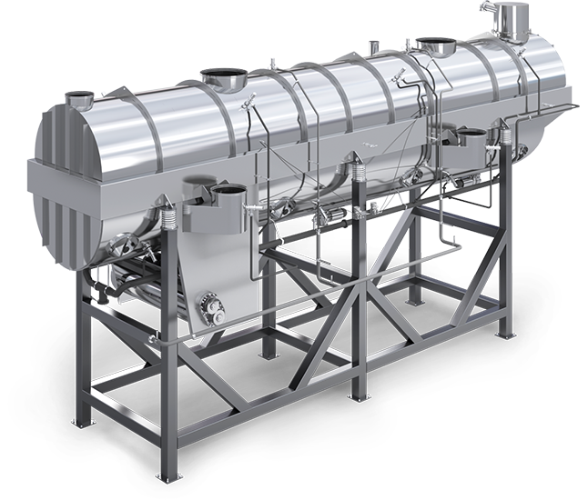 Fluidized-bed dryer-cooler